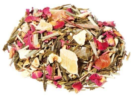 Thé vert soleil de bahia, thé vert citron et passion