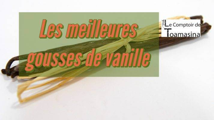 Gousse de vanille de Papouasie, vanille de Madagascar, Vanille de Tahiti